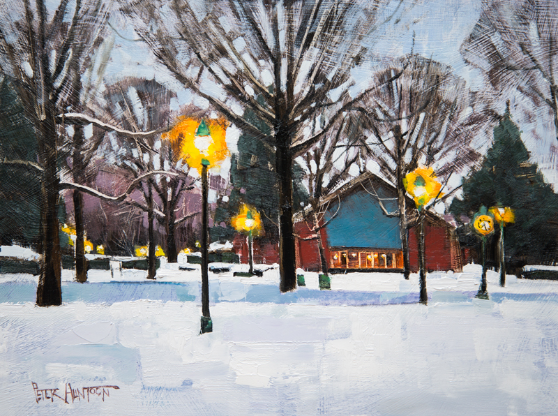 Saint Michael's College - Painting by Vermont Artist Peter
