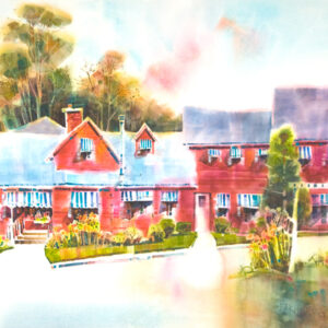painting of the Vermont Inn by Peter Huntoon