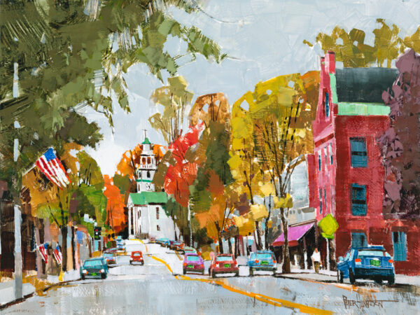 painting of Windsor, Vermont by Peter Huntoon