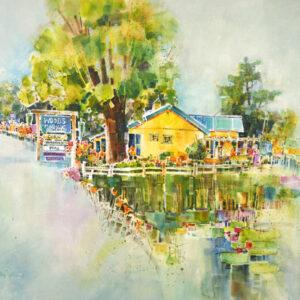 painting of Woods Market Garden by Peter Huntoon