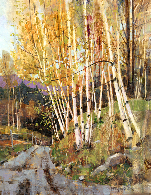 Best Buy Private Auction >> Paper Birch - Painting by Vermont Artist Peter Huntoon